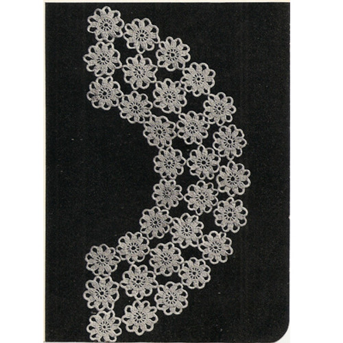 Detail of Crochet Flower Medallion Collar