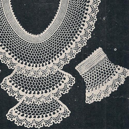 Lace Jabot Cuffs Crochet Pattern