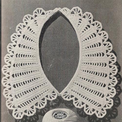 Crochet Collar Pattern with Flower Trim