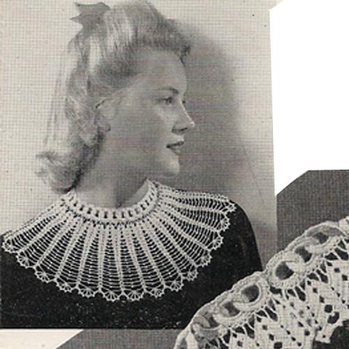 Large Round Collar Crochet Pattern