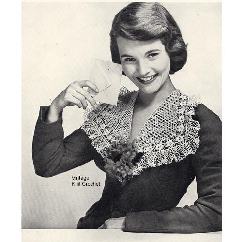 Crochet Large Victorian Rose Collar Pattern