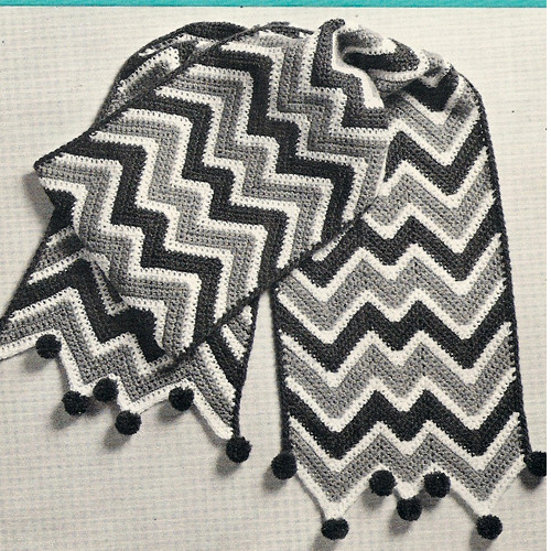 Easy Crochet Ripple Scarf Pattern