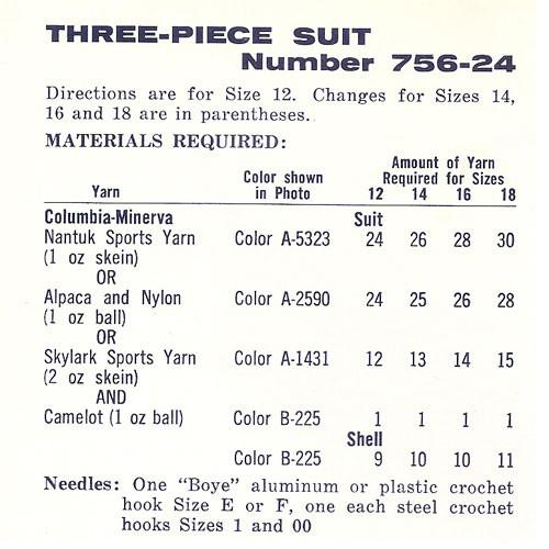 Size Requirements for Crochet Suit