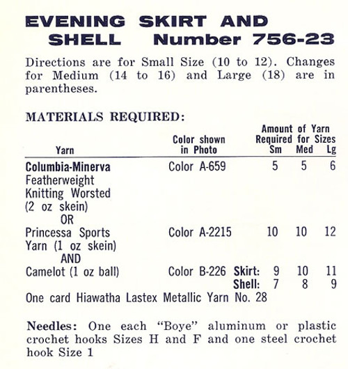 Evening Skirt Shell Material Requirements