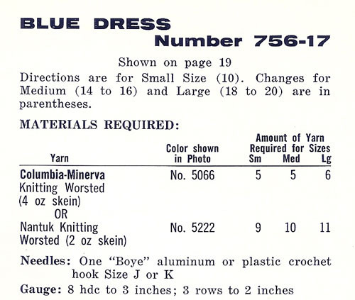 Blue Crochet Dress Material requirements