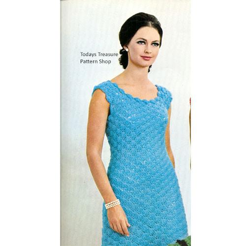 Crochet Shell Petal Dress Pattern