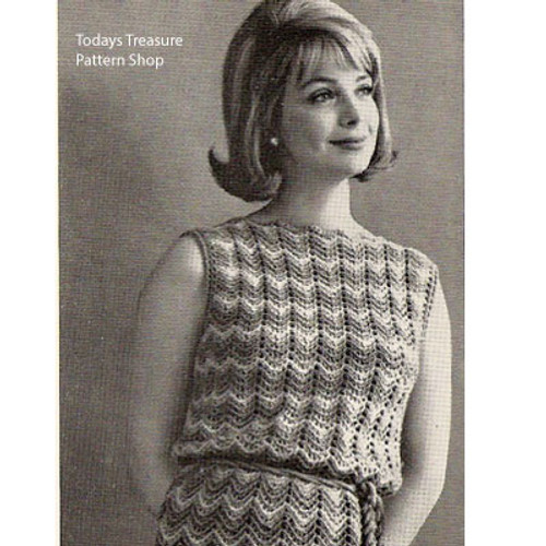 Sleeveless Ripple Dress Crochet Pattern