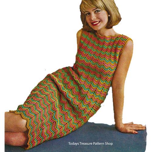 Vintage Ripple Dress Crochet Pattern