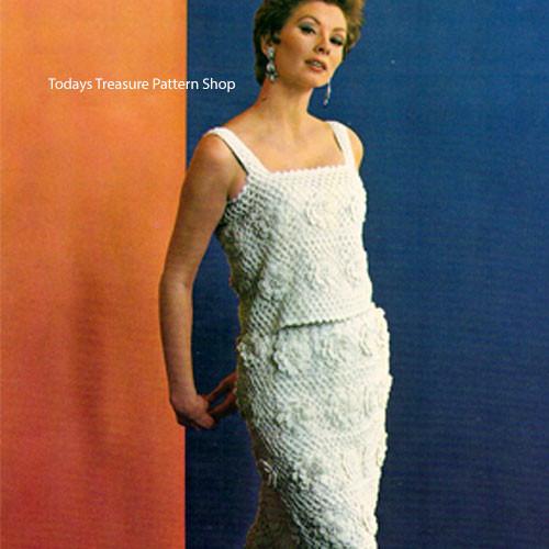 Vintage Two Piece Evening Dress Pattern