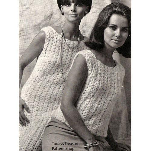 Shell Crocheted Straight Dress Pattern