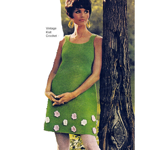 Crochet Flower Dress Pattern, Sleeveless