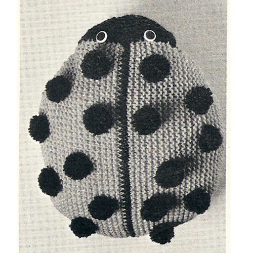 Crochet Ladybug  Pajama Bag Pattern