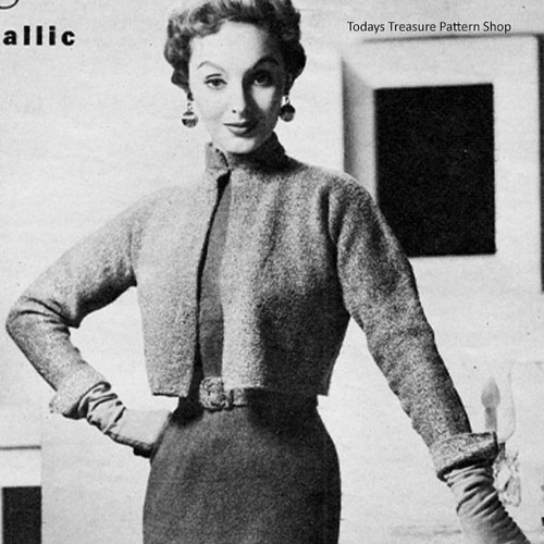 Empire Dress Knitting Pattern with Short Jacket