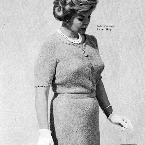 Plus Size Knitted Short Sleeve Dress Pattern
