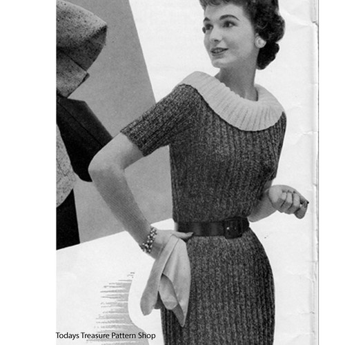 Vintage Ribbed Sheath Knitting Pattern