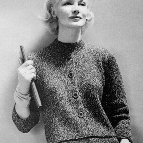 Knitted Cardigan Two Piece Dress Pattern from Ungers