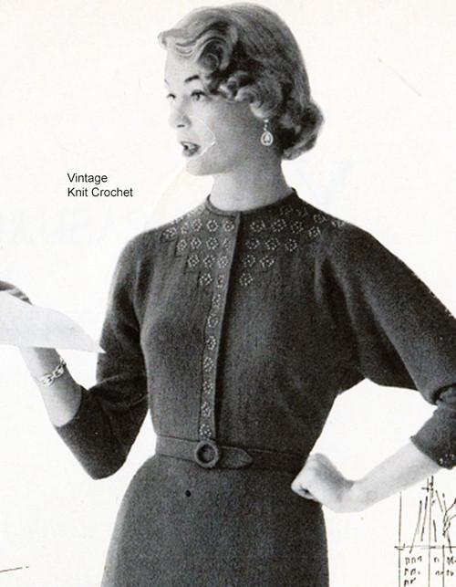 Vintage Beaded Dress Knitting Pattern