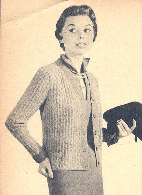 Knitted Cardigan Pattern with Dress
