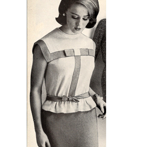 Short Sleeve Knitted Two Piece Dress Pattern