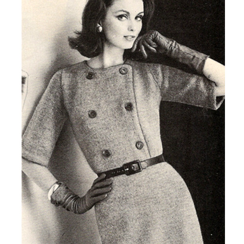 Knitted Double Breasted Shirtwaist Dress Pattern