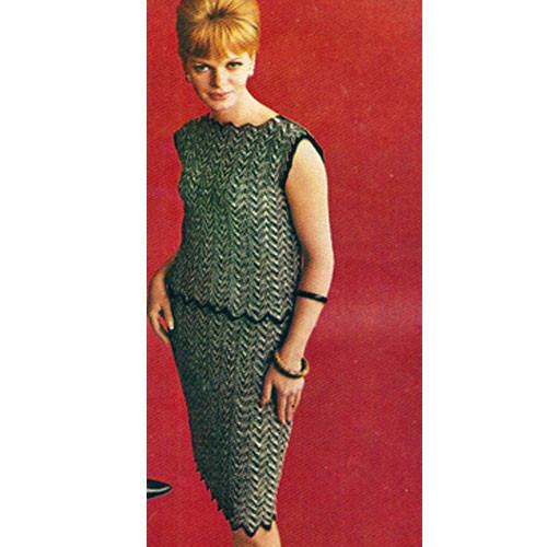 Sleeveless Ripple Knitted Dress pattern