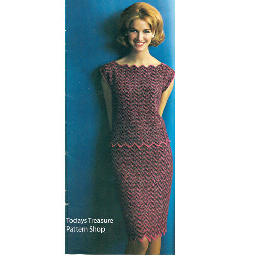 Two Piece Knitted Ripple Dress pattern