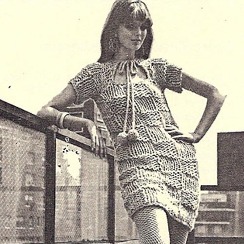 Big Needle Mini Dress Knitting pattern