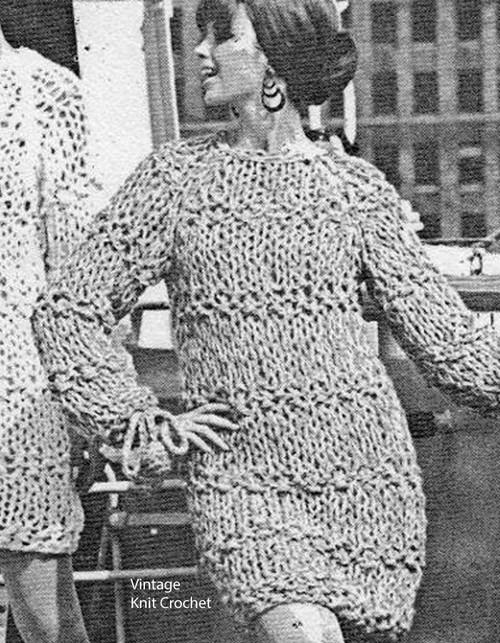 Bulky Knit Mini Dress Pattern