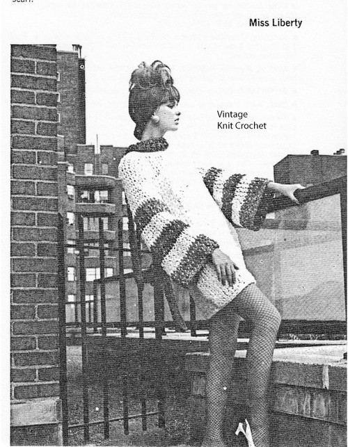 Cowl Neck Knitted Mini Dress Pattern