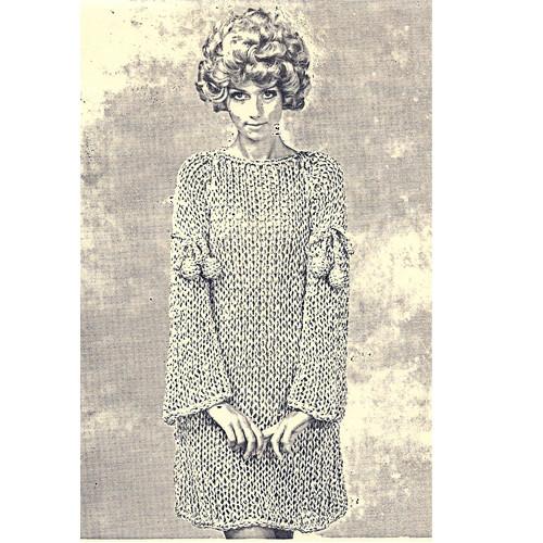 Vintage Big Needle Metallic Dress pattern
