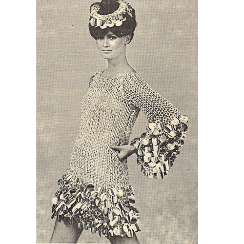 Paillettes Knitted Mini Dress Pattern