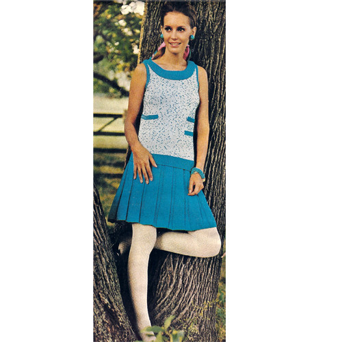 Knitted Sleeveless Tweed Dress Pattern