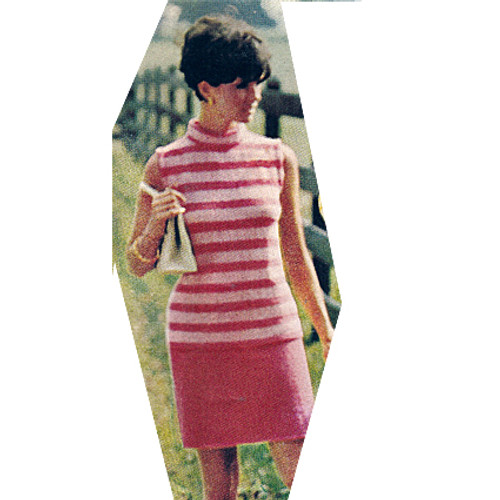 Striped Sleeveless Dress Knitting Pattern