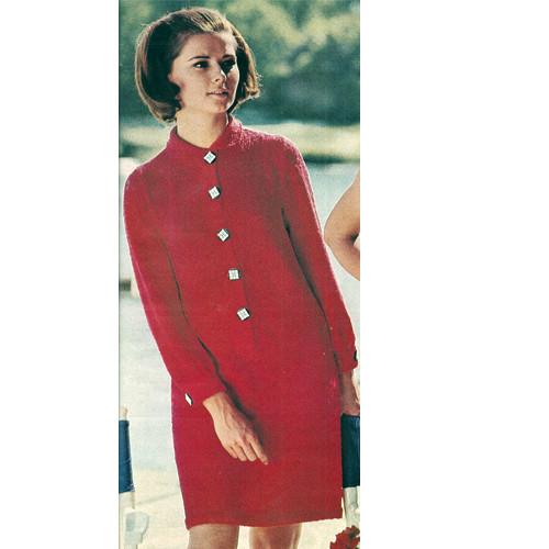 Knitting Pattern Shirt Dress Long Sleeved
