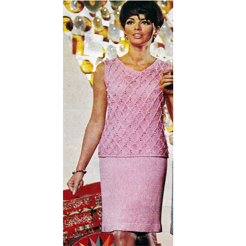 Knitted Two Piece Evening Dress Pattern
