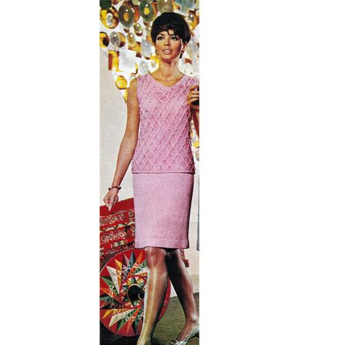 Knitting Pattern Beaded Evening Dress