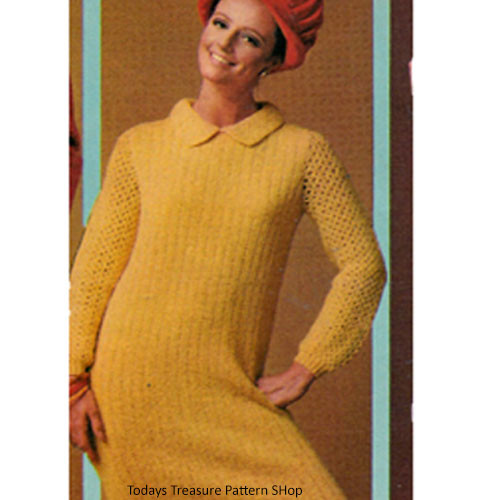 Ribbed Pullover Dress Knitting Pattern