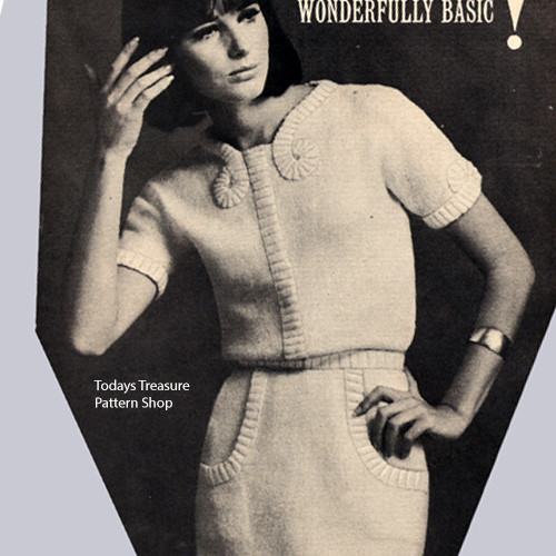 Knitting Pattern Dress with Short Sleeves