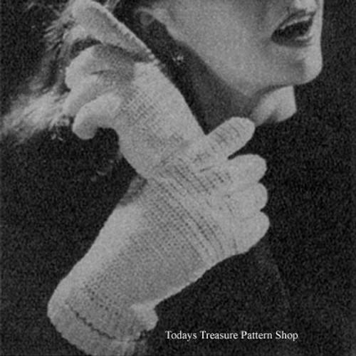 Misses Crocheted Gloves Pattern