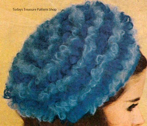Mohair Striped Beret Crochet pattern
