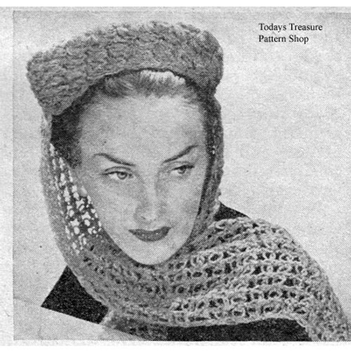 Pillbox Hat Crochet Pattern with Wimple