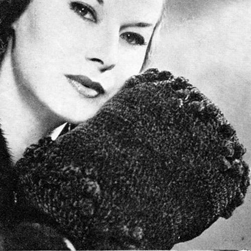 Vintage Crochet Muff pattern