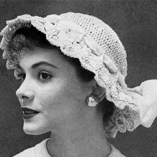 Feminine Brim Hat Crochet Pattern