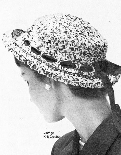 Crochet Breton Sailor Hat Pattern