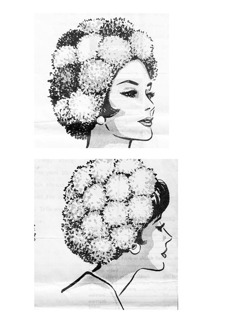 Crochet Hat Pattern with pompoms Mail Order 5462