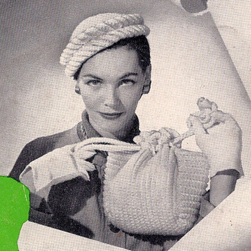 Crochet Braid Trim Hat & Bag Pattern
