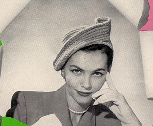 Sailor Cap Crochet Pattern, Vintage 1950s