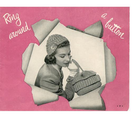 Vintage Button Cap and Bag Crochet Pattern