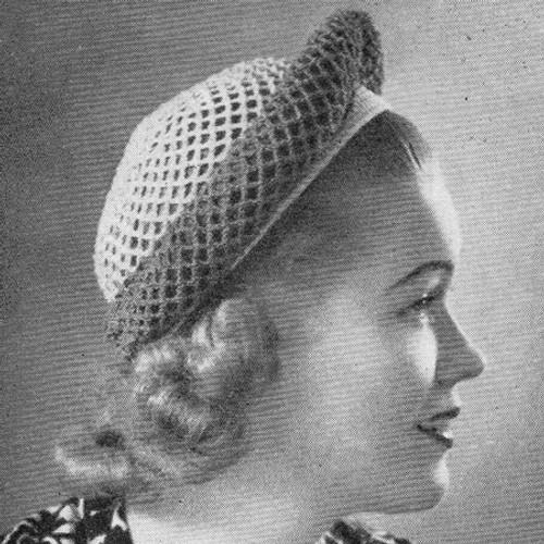 Vintage Banded Hat Crochet Pattern