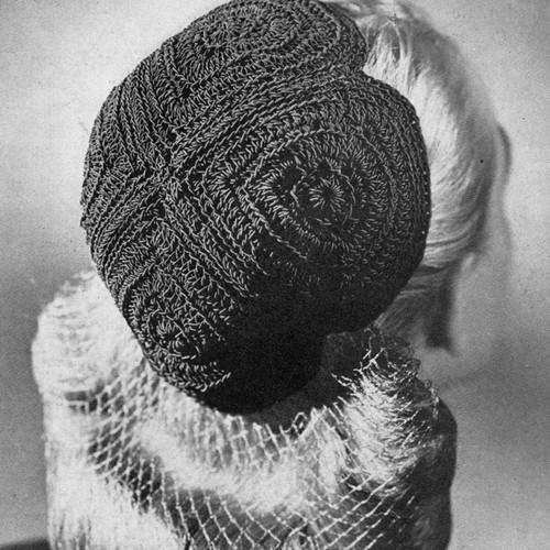 Vintage 1940's Crochet Calot Pattern